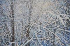 Schneewald, 2020, Öl auf Leinwand, 30 x 40 cm, 800,- mit Rh.
