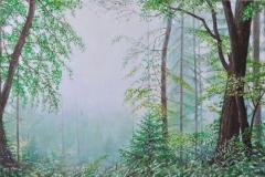 Sternwald 4, 2020, Öl auf Leinwand, 40 x 60 cm, 1,700,- mit Rh.